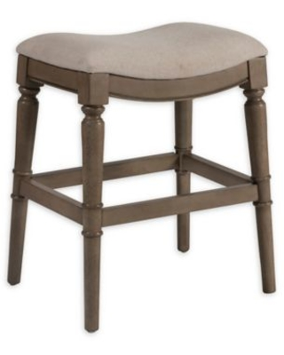 Peachy Bee Willow Home Bee Willow Home Normandy 26 Inch Backless Saddle Counter Stool In Grey From Bed Bath Beyond Bhg Com Shop Caraccident5 Cool Chair Designs And Ideas Caraccident5Info
