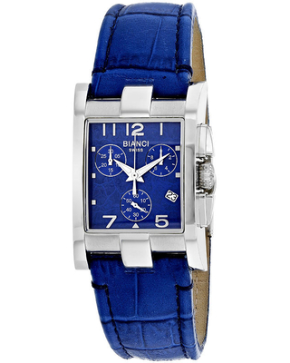 Roberto Bianci Womens Blue Leather Bracelet Watch-Rb90362, One Size , No Color Family