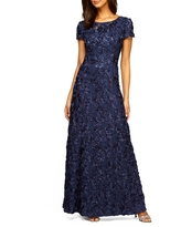 Alex Evenings Embellished Lace A-Line Gown, Size 18 in Navy at Nordstrom