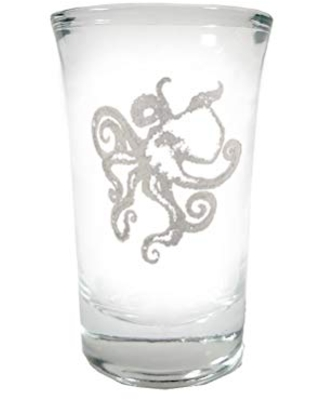 Octopus Shot Glass - Free Personalized Engraving