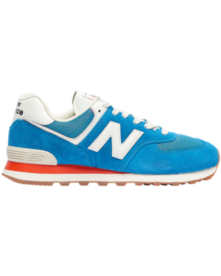 New Balance New Balance Mens New Balance 574 Classic - Mens Running Shoes Natural Indigo/Light Rouge Wave/White Size 08.0 from Foot Locker | ...