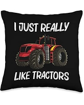 Best Tractor Engine Mining Loading Monster Designs Cool Tractor Gift For Men Women Big Farming Vehicle Truck Throw Pillow, 16x16, Multicolor