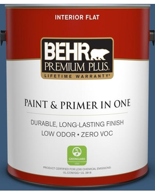 BEHR Premium Plus 1 gal. #icc-85 China Pattern Flat Low Odor Interior Paint and Primer in One