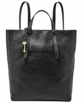 Fossil Camilla Convertible Large Leather Backpack - Black/Gold