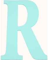 Mini Harper Painted Letter, Aqua, R
