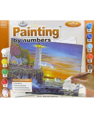 Waterside Lighthouse Painting by Numbers