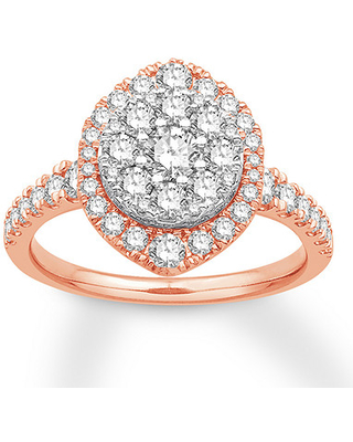 Jared The Galleria Of Jewelry Diamond Engagement Ring 1-1/3 ct tw Round 14K Two-Tone Gold