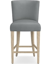 Trevor Counter Stool, Grey, Tuscan Leather, Dove