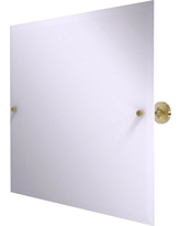 Allied Brass Sag Harbor Collection Frameless Landscape Rectangular Tilt Mirror with Beveled Edge in Unlacquered Brass