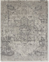 Mystic Medallion Hand Knotted Rug, 9x12', Gray