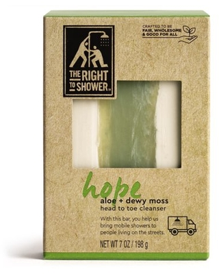 The Right To Shower Hope Shampoo Bar & Bar Soap Aloe and Dewy Moss, 7 oz