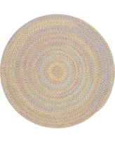 Play Date Sand Beige Multi 6 ft. x 6 ft. Round Indoor/Outdoor Braided Area Rug