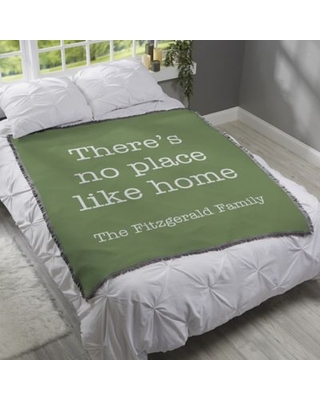 Home Expressions Personalized 56-Inch x 60-Inch Woven Throw