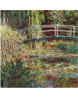 """Trademark Art """"Water-Lily Pond Pink Harmony, 1900"""" Canvas Art by Claude Monet"""