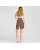 Assets by Spanx Women's Remarkable Results High Waist Midthigh Midtone - Chestnut Brown S