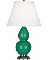 "Robert Abbey 22 3/4"" Emerald Green and Silver Table Lamp"