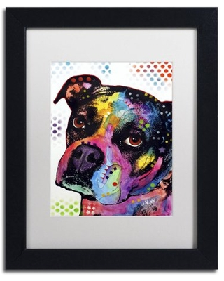 """Trademark Fine Art """"Young Boxer"""" Canvas Art by Dean Russo, White Matte, Black Frame"""