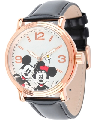 Men's Disney Mickey and Minnie Shinny Vintage Articulating Watch with Alloy Case - Black, Men's, Size: Small