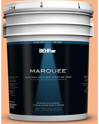 BEHR MARQUEE 5 gal. #250D-4 Autumn Mist Satin Enamel Exterior Paint and Primer in One