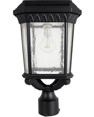 Gama Sonic Colonial Outdoor Black Integrated Led Post Light With 3 In Er And Gs