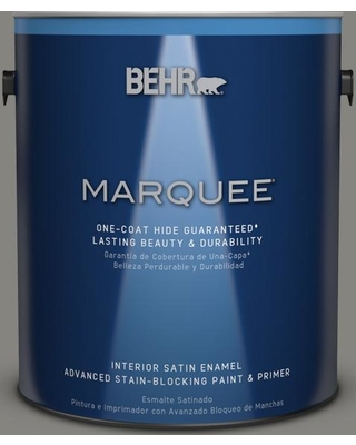 BEHR MARQUEE 1 gal. #PPU24-07 Barnwood Gray Satin Enamel Interior Paint and Primer in One