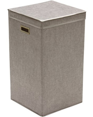 Greenway Collapsible Laundry Hamper, Grey Linen