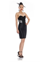 Theia - 881946 Strapless Satin Fitted Cocktail Dress