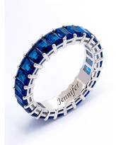 Eternity Ring with Simulated Blue Spinel Birthstones