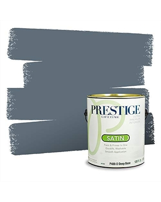 Prestige Paints P400-D-4007-4BVP Paint and Primer In One, 1 gallon, Smoky Pitch