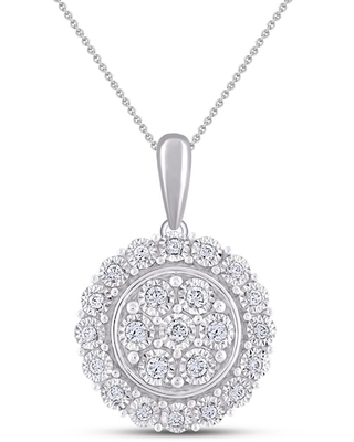 Jared The Galleria Of Jewelry Diamond Necklace 1/6 ct tw Round Sterling Silver