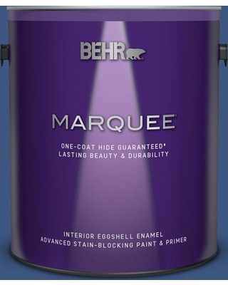 BEHR MARQUEE 1 gal. #S-H-600 Sailor Eggshell Enamel Interior Paint and Primer in One
