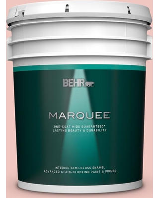 BEHR MARQUEE 5 gal. #M170-2 Prairie Rose Semi-Gloss Enamel Interior Paint and Primer in One
