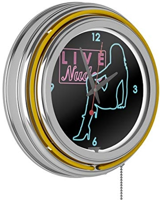 Shadow Babes - D Series - Clock w/ Two Neon Rings - Yellow