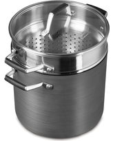 Select by Calphalon 8qt Hard Anodized Nonstick Multipot, Gray