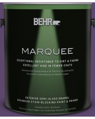 BEHR MARQUEE 1 gal. #S-G-660 Wild Grapes Semi-Gloss Enamel Exterior Paint and Primer in One