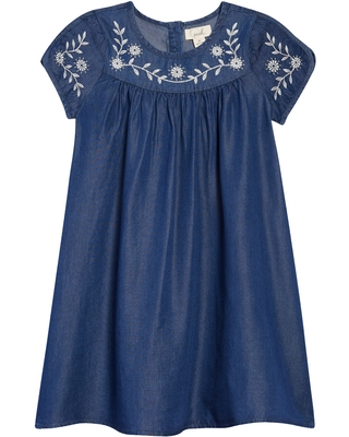 Peek Aren'T You Curious Kids' Embroidered Dress, Size 3T in Indigo at Nordstrom