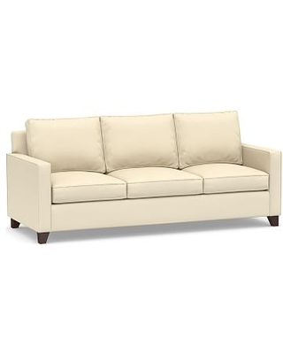 Cameron Square Arm Upholstered Side Sleeper Sofa, Polyester Wrapped Cushions, Performance Twill Cream