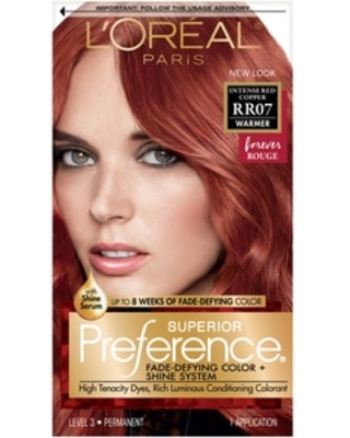 L'Oreal Paris Superior Preference Fade-Defying Hair Color, RR07 Intense Red Copper   CVS