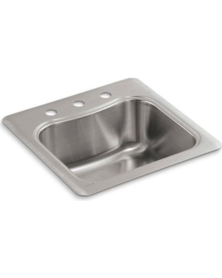 Here's a Great Deal on KOHLER Staccato Drop-in Stainless Steel ... on composite single bowl kitchen sink, undermount kitchen sinks with cutting board, single basin kitchen sink, 33 single bowl kitchen sink, large single bowl kitchen sink, elkay single bowl undermount sink, kohler single bowl kitchen sink, single undermount stainless sink, single bowl single drain kitchen sink, black kohler cast iron kitchen sink, black single bowl kitchen sink, 36 inch stainless steel undermount sink, franke single bowl undermount sink, blanco single bowl undermount sink, stainless single bowl kitchen sink, kohler undercounter kitchen sink, undermount trough sink, dual mount single bowl kitchen sink, porcelain single bowl kitchen sink, 28 single bowl kitchen sink,