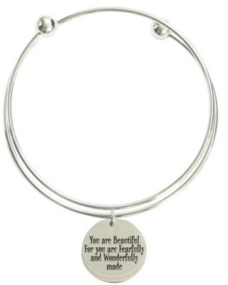 You are wonderfully made double layer bangle
