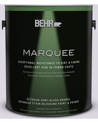BEHR MARQUEE 1 gal. #S570-1 Misty Lavender Semi-Gloss Enamel Exterior Paint and Primer in One
