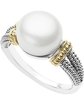 LAGOS Luna Pearl Ring, Size 7 in Silver/Pearl at Nordstrom