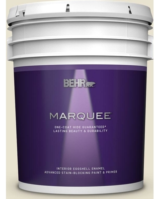 BEHR MARQUEE 5 gal. #S330-1 Baby Artichoke Eggshell Enamel Interior Paint and Primer in One