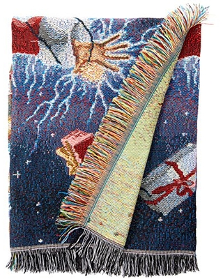 Deals On Warner Bros National Lampoons Christmas Vacation Shocking Chevy Woven Tapestry Throw Blanket 48 X 60