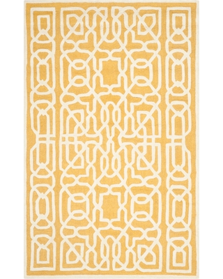 Safavieh Wooster Area Rug - Gold / Ivory ( 6' X 9' ), Adult Unisex, Size: 6'X9', Gold/Ivory
