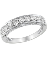 4/5 CT. T.W. Created White Sapphire Ring - Silver, Size: 5.0