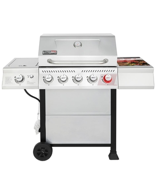 Royal Gourmet 5-Burner Propane Gas Grill in Stainless Steel with Sear Burner and Side Burner
