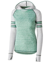 Holloway Girls Advocate Hoodie, Forest/Silver, M