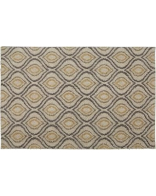 Mohawk Home EverStrand Ogee Waters Rug, Beig/Green, 5X8 Ft