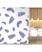 Palm Fronds Wall Decal, Dark Blue
